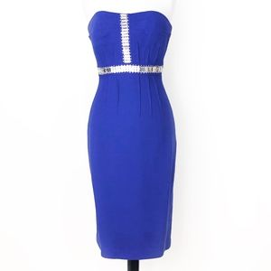 tracy reese • art deco beaded strapless dress • 4